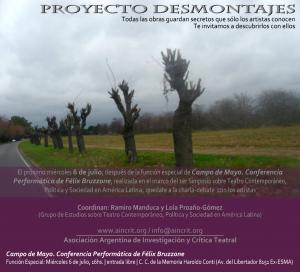 Flyer Desmontaje Campo de Mayo